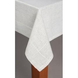 Obrus Art Len 140x250 biały Irys