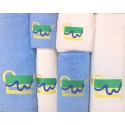 Komplet ręczników Harmony 6 szt.Ananas krem niebieski Zwoltex