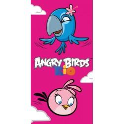 Ręcznik Angry Birds Rio 70x140 Różowy 4131 Carbotex