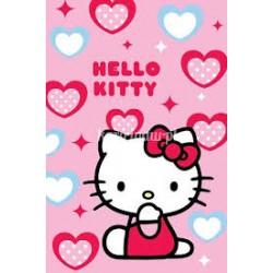 Ręcznik Hello Kitty 40x60 Serca Niebiesko Różowe