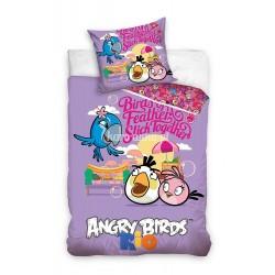 Pościel Angry Birds 160x200 5749 Fioletowa Carbotex