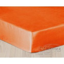 Prześcieradło satynowe z gumką 160x200 Pomarańczowe 035 Darymex