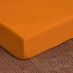 Prześcieradło Jersey z gumką 150/160x200 Pomarańczowe 035 Darymex