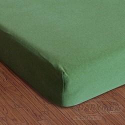 Prześcieradło Jersey z gumką 150/160x200 Zielony Kaktus 033 Darymex