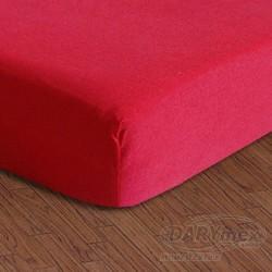 Prześcieradło Jersey z gumką 150/160x200 Czerwone 029 Darymex