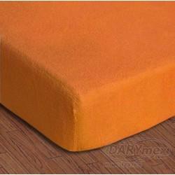 Prześcieradło Frotte z gumką 150/160x200 Pomarańczowe 035 Darymex