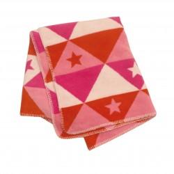Kocyk David Fussenegger Niki Playing Stars Pink 100x150
