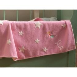 Kocyk David Fussenegger Finn Starry Fairy Pink 100x130