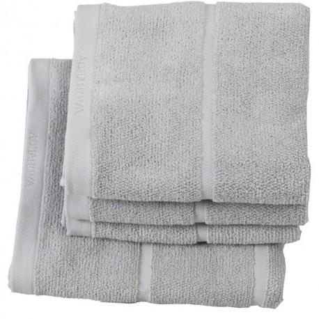 Ręcznik do rąk Adagio jasny szary 30x50 Aquanova