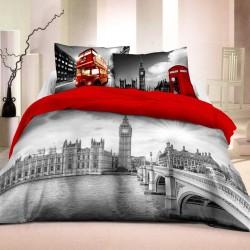Pościel bawełniana 160x200 Londyn 3D 8676 Młodzieżowa Faro