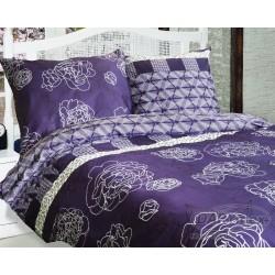 Pościel satynowa 160x200 Laura Violet Luxury Darymex