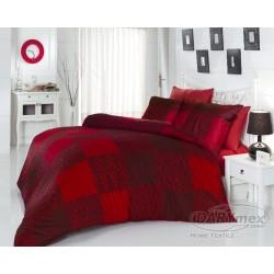 Pościel satynowa 160x200 Mona Red Luxury Darymex