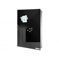 Skrzynka na klucze Blomus Velio Vertical Black L z tablicą magnetyczną