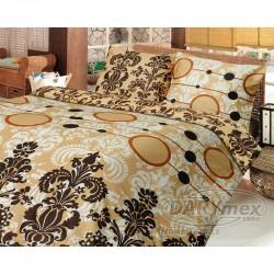 Pościel satynowa 200x220 Bianco Brown Darymex