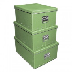Pudełko z pokrywką i uchwytami zielone (38)