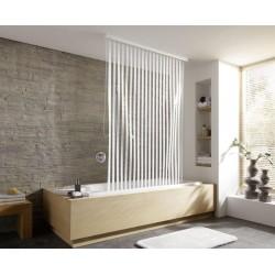 Roleta DuschRollo Stripes White 128x240 Kleine Wolke