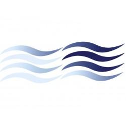 Dekoracja łazienkowa Kleine Wolke Wave Slim