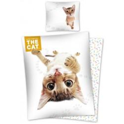 Pościel bawełniana 160x200 The Cat Kotek 4764 Detexpol