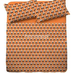 Pościel bawełniana 160x200 Miś Panda Pomarańczowa