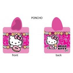 Poncho Hello Kitty 60x120 Ciasteczka 6189 Detexpol