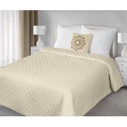 Narzuta na łóżko 220x240 Evelyn beżowa z poduszką 40x40