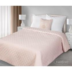 Narzuta na łóżko 220x240 Amy różowa z poduszką 40x40 Eurofirany