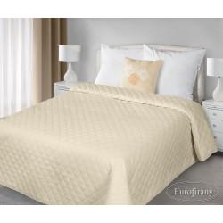 Narzuta na łóżko 170x210 Amy beżowa z poduszką 40x40 Eurofirany