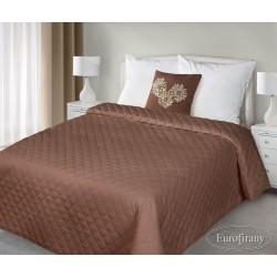 Narzuta na łóżko 170x210 Amy brązowa z poduszką 40x40 Eurofirany