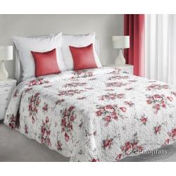 Narzuta dekoracyjna 170x210 Plant biało czerwona Eurofirany