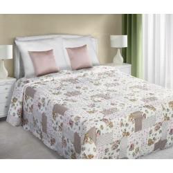Narzuta dekoracyjna 170x210 Darcy biało różowa Eurofirany