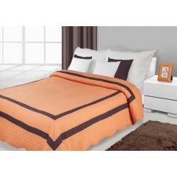 Narzuta dekoracyjna 170x210 Stripe pomarańczowo brązowa Eurofirany