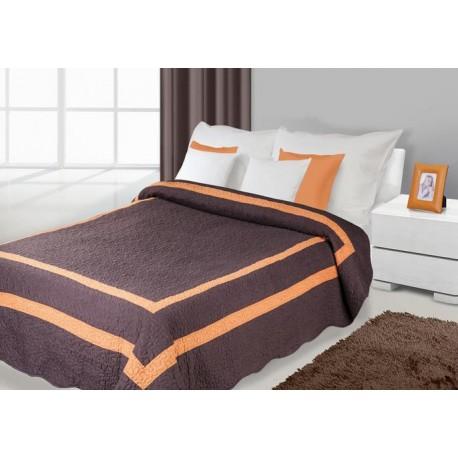 Narzuta dekoracyjna 170x210 Stripe brązowo pomarańczowa Eurofirany