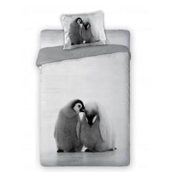 Pościel bawełniana 160x200 Pingwiny Faro