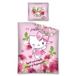 Pościel bawełniana 160x200 Hello Kitty Kotek 2883 Detexpol
