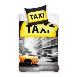 Pościel bawełniana 160x200 Taxi Żółta Carbotex
