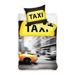 Pościel bawełniana 140x200 Taxi Żółta Carbotex