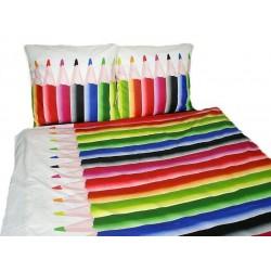 Pościel dziecięca 160x200 Kolorowe Kredki