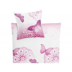 Pościel Kleine Wolke Papilon Pink 155x220