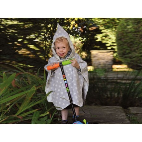 Poncho David Fussenegger Cape Stars Grey 2-4 L
