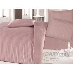 Pościel satynowa 160x200 Cizgili Pink Luxury Darymex