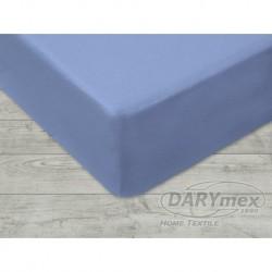 Prześcieradło Jersey z gumką 160x200 Niebieskie 009 Darymex