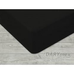 Prześcieradło Jersey z gumką 180x200 Czarne 027 Darymex