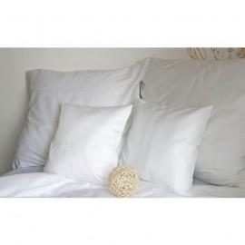 Pościel satynowa 160x200 jednobarwna biała Andropol