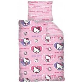 Pościel bawełniana 160x200 Hello Kitty serduszka