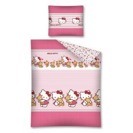 Pościel flanelowa 160x200 Hello Kitty Misio 2099