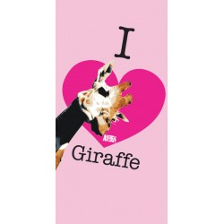 Ręcznik Animal Planet 75x150 Giraffe różowy 5422 Carbotex