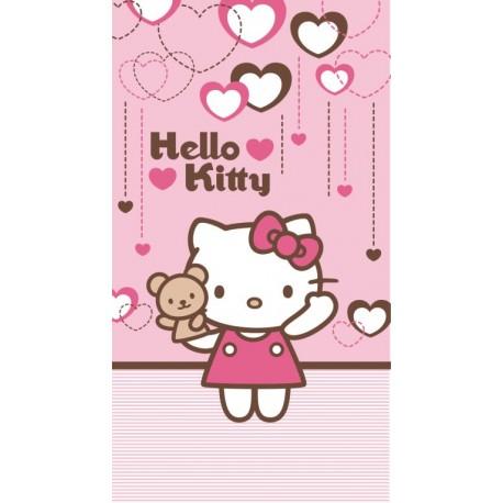 Ręcznik Hello Kitty 50x90 Misio Jasny Różowy 0804