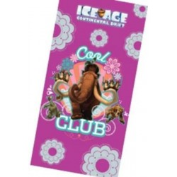 Ręcznik Ice Age Epoka Lodowcowa 75x150 Różowy 5590