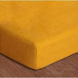 Prześcieradło Frotte z gumką 150/160x200 004 Żółte Darymex