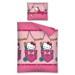 Pościel flanelowa 160x200 Hello Kitty 7421